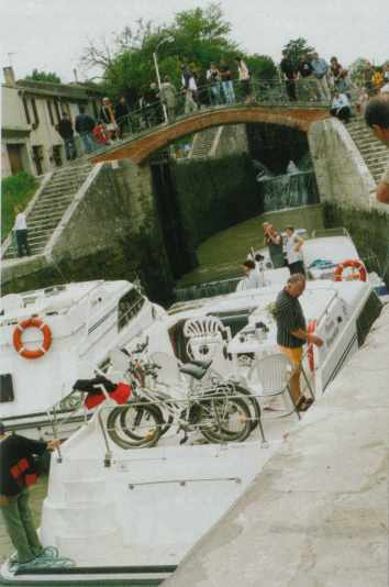 Béziers - One of the famous eight locks at Fonsérannes
