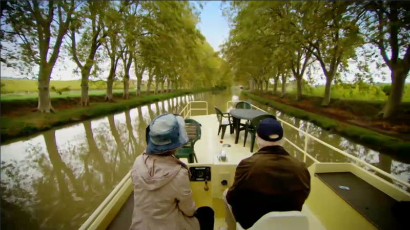 Timothy West and Prunella Scales Cruising the Canal du Midi